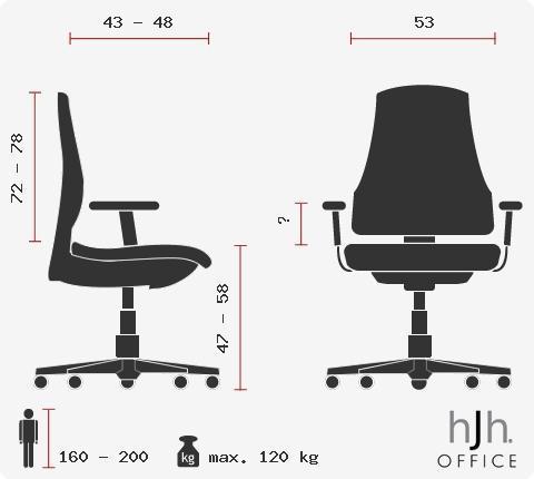 Cadeira Ergonómica de Escritório VENUS PANO, Totalmente Ajustável, Assento Pano, Cor Preto